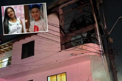 Marien Ortiz y Sebastián Torres, que murieron en incendio en Bello