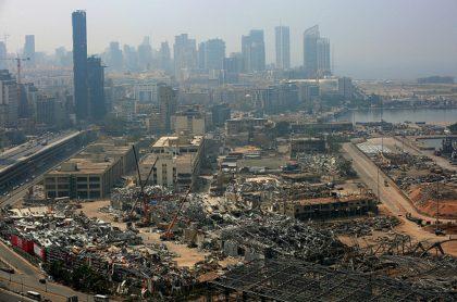 Beirut, Libano, un mes después de la fuerte explsión.