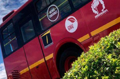 Bus de Transmilenio, a propósito de las nuevas rutas que anunció el sistema de transporte.