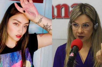La comunicadora y la activista hicieron varios comentarios una en contra de la otra en el red social.