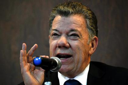 Juan Manuel Santos, dispuesto a dialogar con Álvaro Uribe. Imagen de referencia de Santos en 2019
