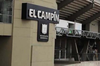 Fútbol El Campín aún no está permitido; no lo han pedido prestado. Foto de la fachada del estadio.