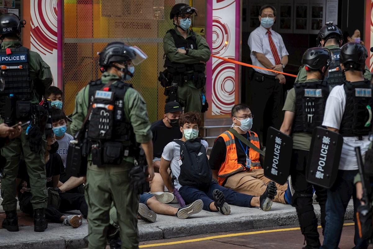 Arrestos por protestas en Hong Kong