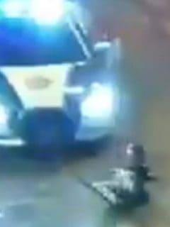 Patrulla atropella a ladrón en el barrio La Merced, Ciudad de México.