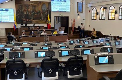 Concejo de Bogotá vacío, el 7 de septiembre del 2020