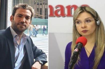 Martín Santos y Vicky Dávila, que se cruzaron trinos e insultos