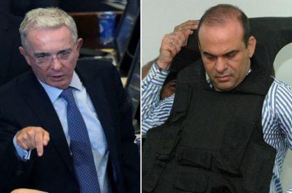 Álvaro Uribe y Salvatore Mancuso, que vincula al expresidente con masacre de El Aro
