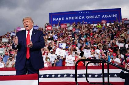 Donald Trump, en plena campaña de reelección.