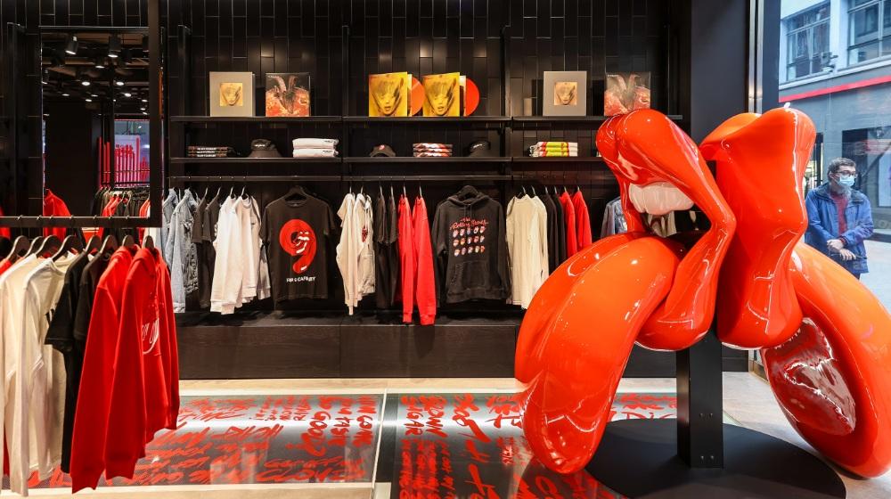 Fotos de la tienda de los Rolling Stones en Londres