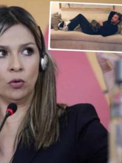 Vicky Dávila y Martín Santos, que tuvieron un cruce de trinos que fue viral