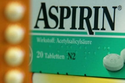 Medicamento Aspirina, que en Colombia está en riesgo de desabastecimiento por la pandemia