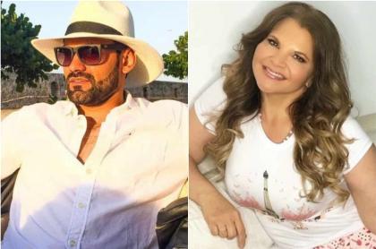 Foto de Rafael Caparroso y Diva Jessurum, a propósito de que él aclaró si es un mantenido