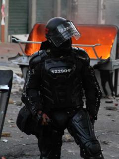 Imagen ilustrativa del Esmad durante disturbios en Bogotá y Cundinamarca.