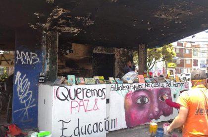 CAI quemado de La Gaitana se convirtió en biblioteca.