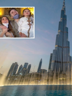 Foto de la torre Burj Khalifa, en Dubái, que ilustra nota sobre una pareja que mandó a iluminar esa estructura para revelar el sexo de su bebé.