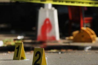 Imagen de la escena de un crimen que ilustra el asesinato de una menor embarazada, en Barranquilla.
