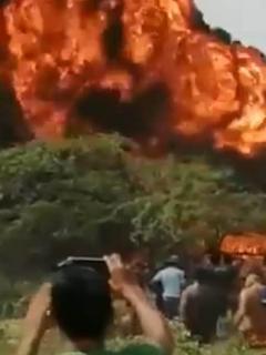 Camiones con gasolina que explotaron en Maicao (La Guajira)