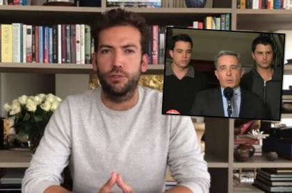 Foto del hijo de Juan Manuel Santos y de Álvaro Uribe.