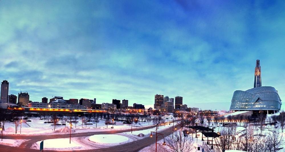 Navidad en Winnipeg, capital de la provincia de Manitoba, Canadá. En esta ciudad, están disponibles las 'Becas President' de la Universidad de Winnipeg, a las que colombianos pueden postularse.