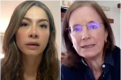 Catherine Juvinao y Salud Hernández, que le envió un mensaje a la activista política por amenazas que la joven periodista denunció