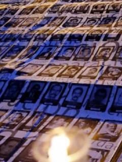 """Homenaje a líderes sociales, que según Ariel Ávila (recuadro) tendrán un 2021 """"muy intenso en violencia"""" en su contra."""
