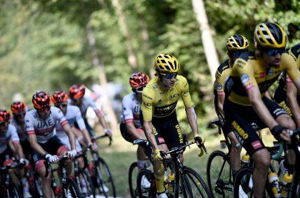 Primoz Roglic en etapa 16 del Tour de Francia, clasificación general