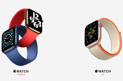 Nuevos Apple Watch Series 6 y Apple Watch SE, presentados en el evento 'El tiempo vuela' de Apple
