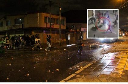 Imagen de las protestas en Bogotá contra el abuso policial ilustra nota sobre patrullera que fue apuñalada en medio de las manifestaciones.