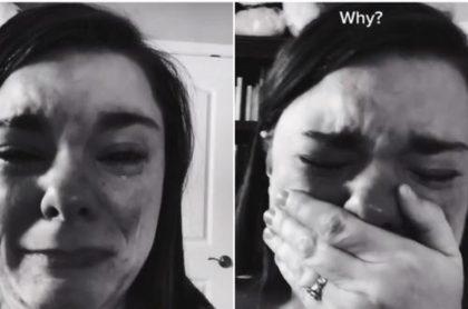 Mamá llora desconsoladamente porque solo un invitado va a fiesta de su hijo