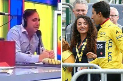 Mario Sabato, relator del Tour de Francia en ESPN, y exnovia de Egan Bernal, quien lo criticó (Fotomontaje Pulzo)