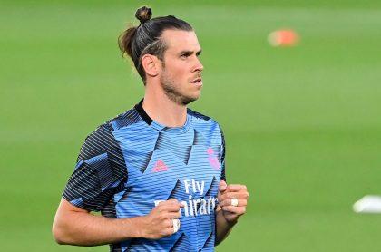 Gareth Bale entrenando con el Real Madrid, equipo del que se podría ir en este mercado de pases para el Tottenham