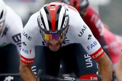 Fernando Gaviria gana el Giro de Toscana, en Italia. Imagen de referencia.