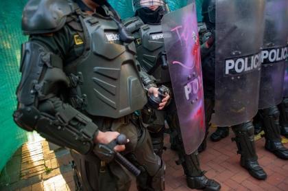 Policía en Bogotá se prepara para controlar las protestas por la muerte de Javier Ordóñez