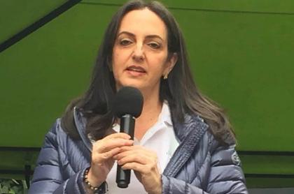 Imagen de María Fernanda Cabal, quien fue insultada en CAI del norte de Bogotá