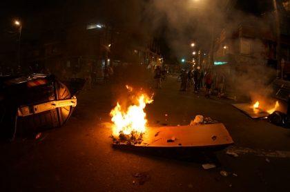 Imagen de disturbios en Bogotá; un documento probaría presencia de Elnen esos disturbios