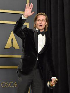 Foto de Brad Pitt, a propósito de que su novia aclaró si le cae mal Angelina Jolie
