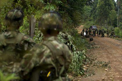 Ejército de Colombia, imagen de referencia: varios indígenas resultaron heridos en medio de combates entre el Ejército y disidencias de las Farc.