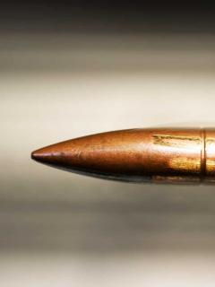 Imagen de una bala, que ilustra a la que mató al joven cuyo reporte dice que fue por COVID-19