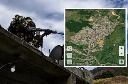 Soldados de las Fuerzas Armadas Nacionales Bolivarianas (Venezuela), ejército que se enfrentó contra disidencias de las Farc en Páez, estado de Apure (mapa a la derecha).