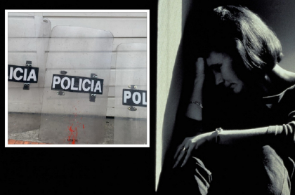 Mujer sentada en una esquina con su cabeza recostada contra la pared. Foto para ilustrar violencia sexual, uno de los delitos por los que una estudiante denunció a policías de estación La Macarena, en Bogotá.