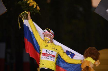 Tadej Pogacar, nuevo campeón del Tour de Francia.