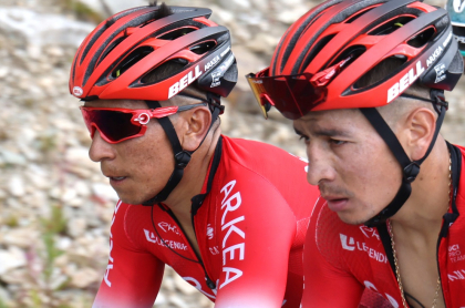 Así terminaron los colombianos en la general del Tour de Francia. En la foto: Nairo y Dáyer Quintana.