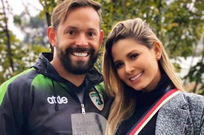 Melissa Martínez (esposa de Matías Mier) estaría embarazada, según Diego Rueda