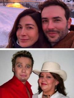 Miguel Varoni y Catherine Siachoque, Sebastián Martínez y Kathy Sáenz, y 'Polilla' y 'La gorda' Fabiola, algunas de las parejas de famosos colombianos que se conocieron en televisión.