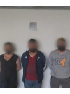 Imagen de la captura de la banda señalada de torturar y explotar a niñas, en Bogotá