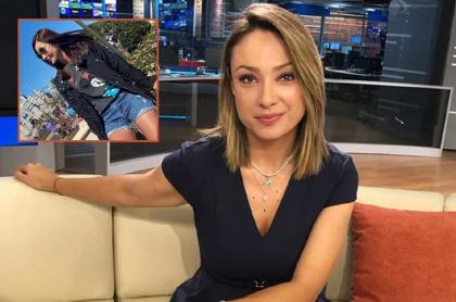 Mónica Jaramillo en Noticias Caracol, medio al que renunció y donde fue reemplazada por Alejandra Giraldo.