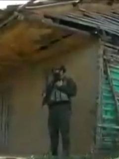 Imagen de la vivienda en donde se perpetró la masacre, en Buenos Aires (Cauca)
