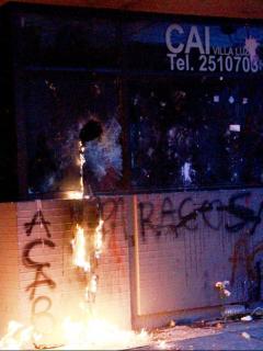 Ataque a CAI de Villa Luz por muerte de Javier Ordóñez.