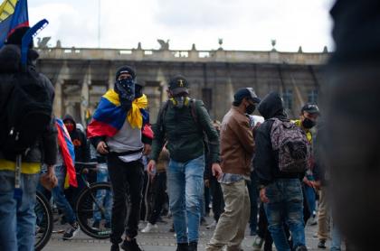 Manifestantes durante las protestas por la muerte de Javier Ordóñez el 21 de septiembre del 2020.