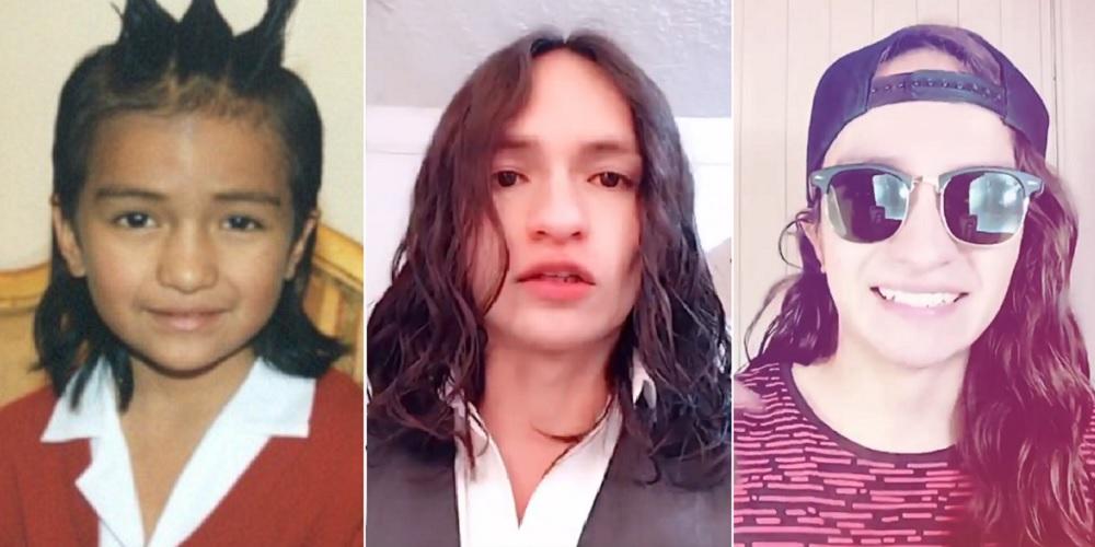 Carlos Kajú cuando hizo del hijo de Pedro 'el Escamoso' y en videos de 2019 y 2020.
